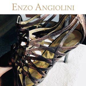 AEFORTEM Strappy Sandal👠 Copper Enzo Angiolini